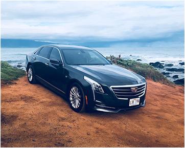 Book a private luxury sedan while on Maui