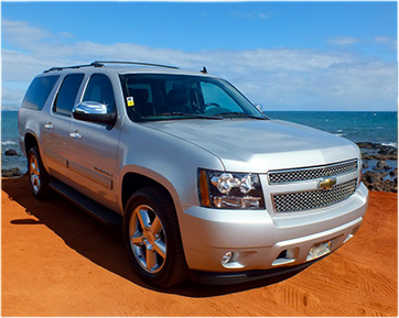 Hire a private luxury SUV and driver on Maui